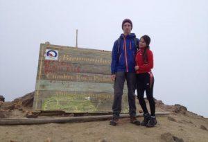 Dolomite Pordoi auf dem Gipfel des Rucu Pichincha
